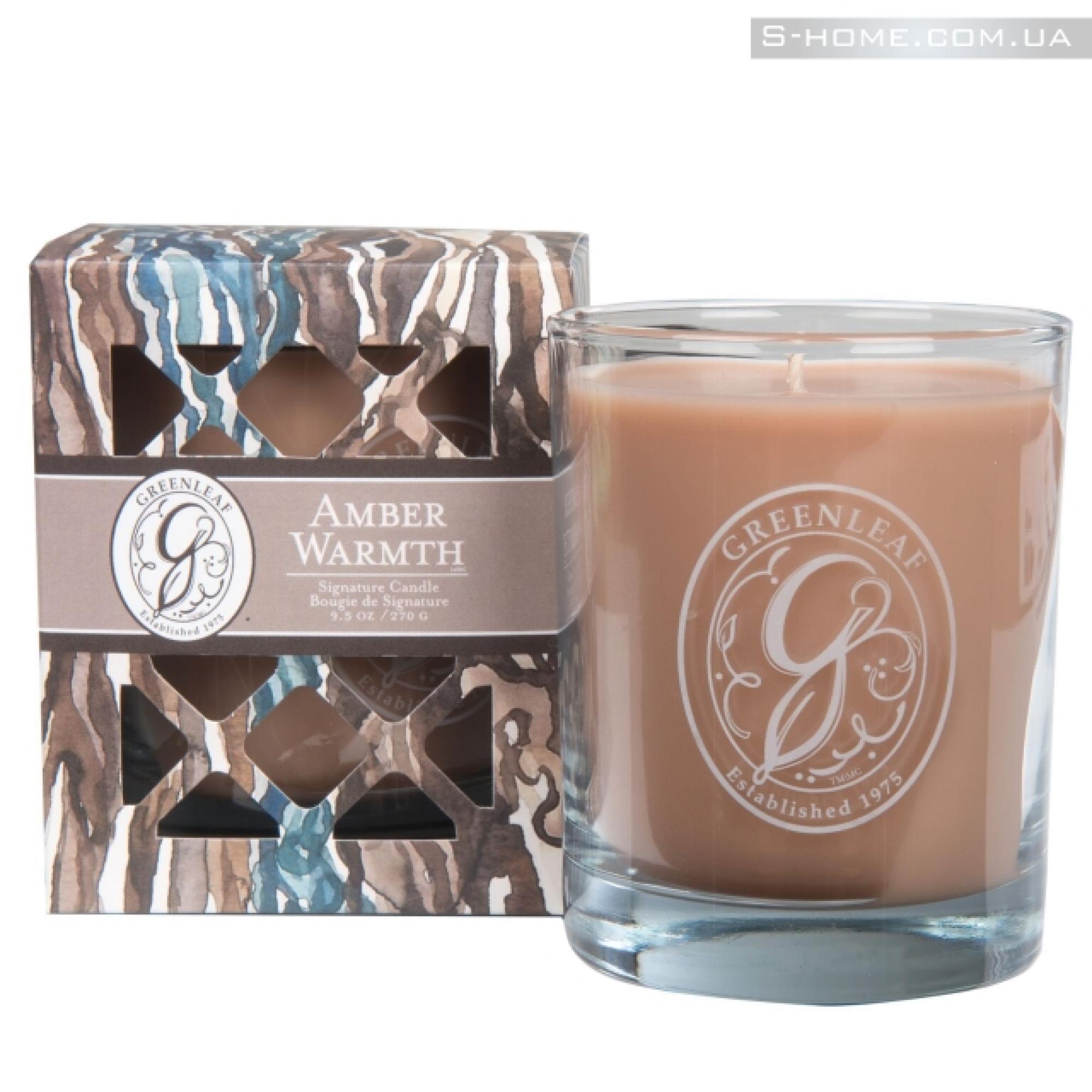 "Ароматическая свеча Greenleaf Тепло Янтаря ""Amber Warmth"""
