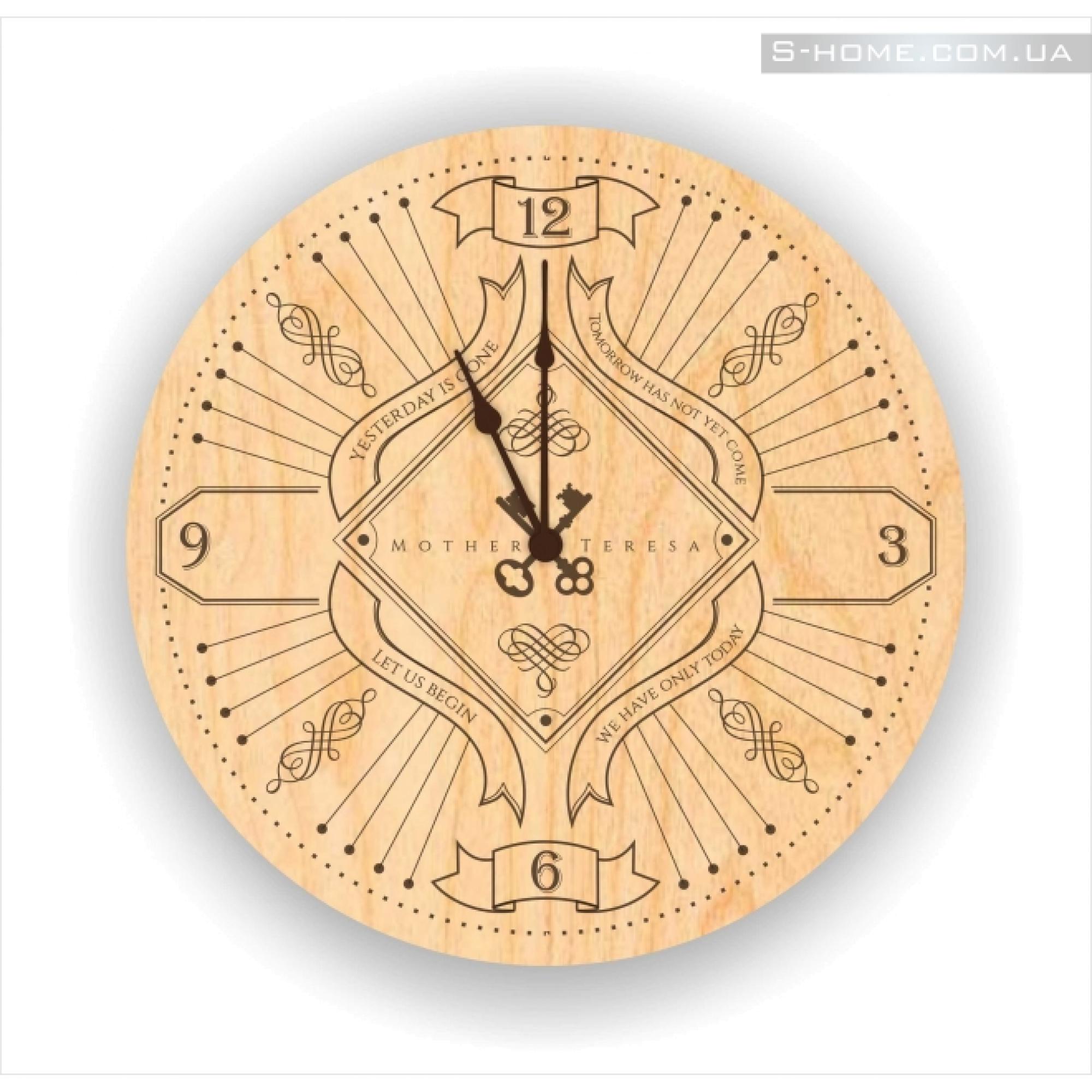 Дизайнерские часы на стену S-Interiors Mother Teresa 1