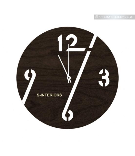 Стильные настенные черные часы S-Interiors 96 Black