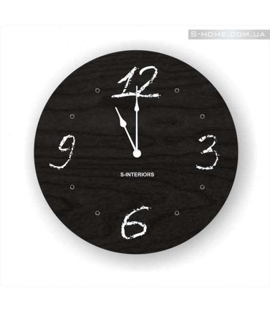 Детские настенные часы черного цвета S-Interiors Chalk 1