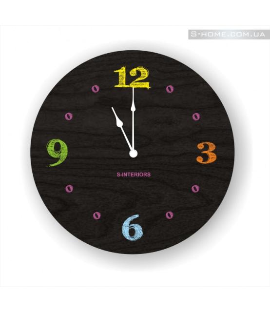 Разноцветные часы в детскую S-Interiors Chalk 2