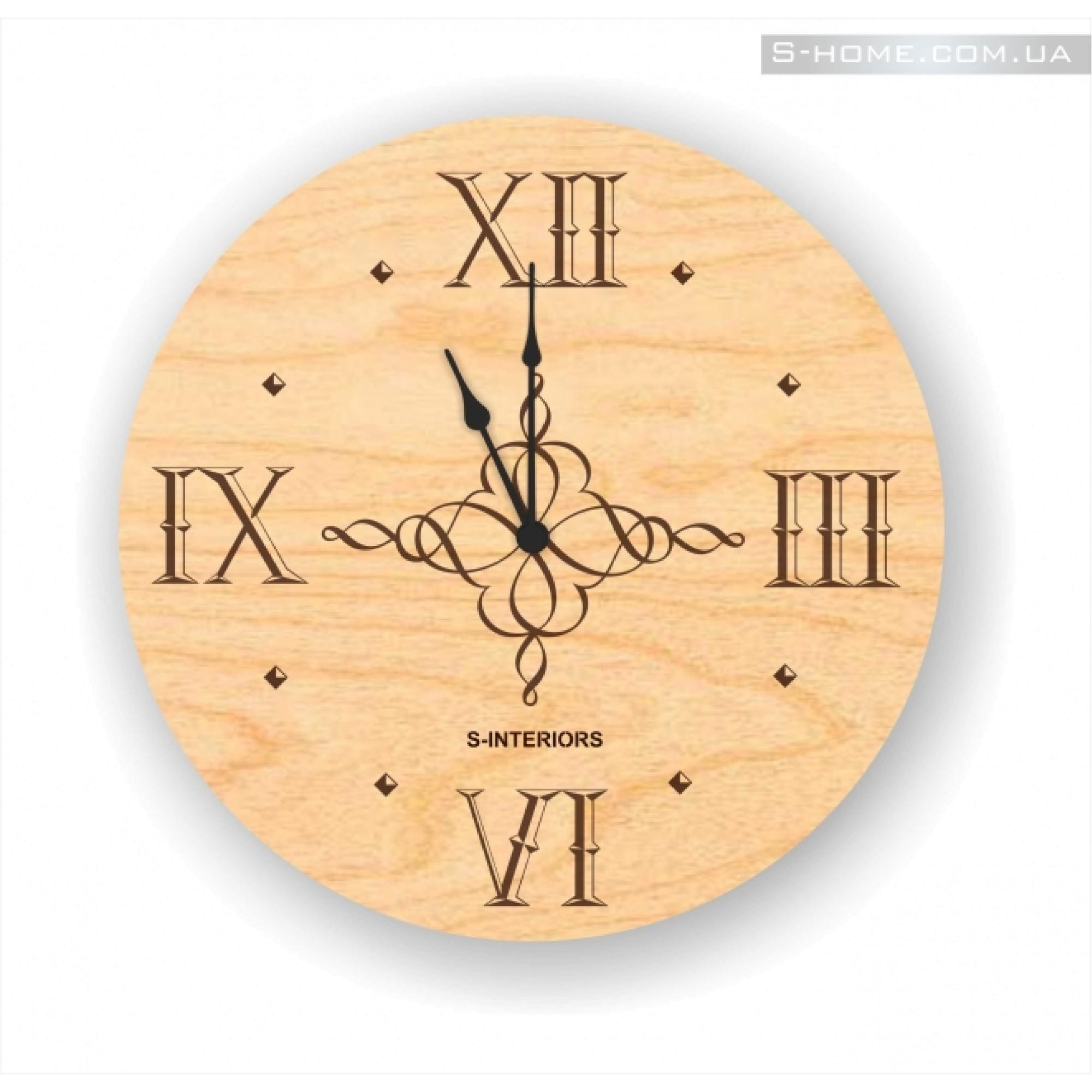 Дизайнерские настенные часы с гравировкой S-Interiors Classic