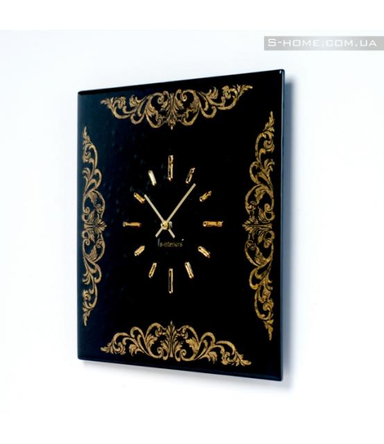 Золотые настенные часы S-interiors Ricco S
