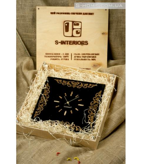 Золотий настінний годинник S-interiors Ricco S