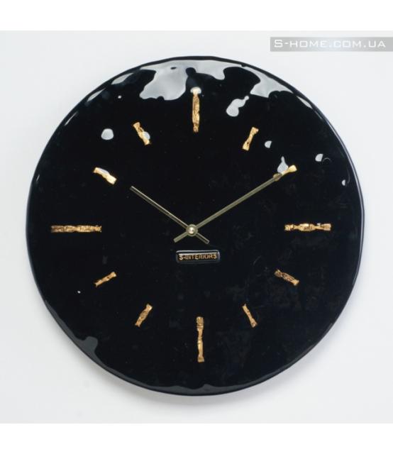 Позолочений настінний годинник S-interiors Terra R