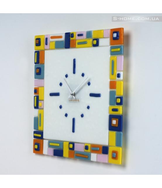 Яркие настенные часы S-interiors Colore Domino
