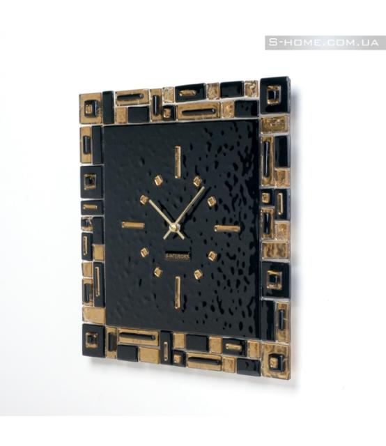 Золотые настенные часы S-interiors Oro Domino