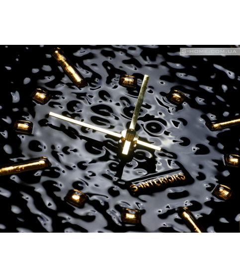 Золотий настінний годинник S-interiors Oro Domino
