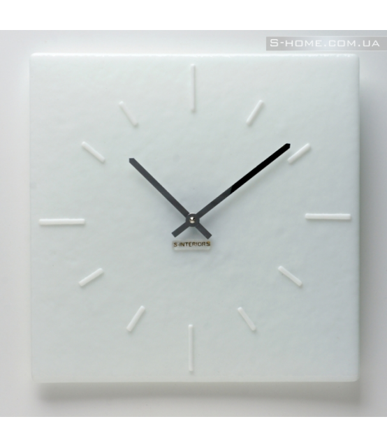 Белые настенные часы S-Interiors Сomplete