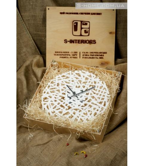 Настінний годинник мінімалізм S-Interiors Bianco Linea