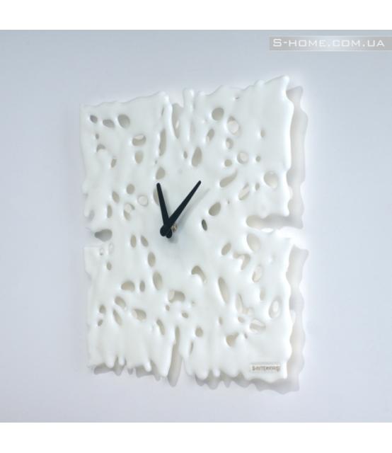 Часы из венецианского стекла S-Interiors Bianco Angelo