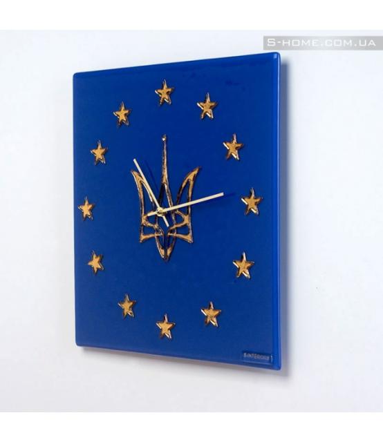 Настінний годинник із гербом України S-Interiors  EUkraine