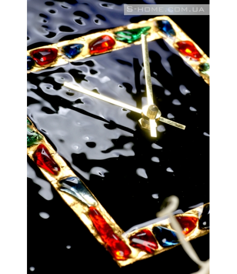Дизайнерський настінний годинник з муранського скла S-Interiors  Antonio Сomplimento  2