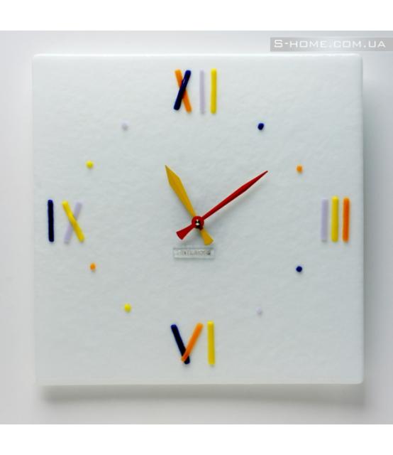 Білий настінний годинник S-Interiors Colore Roma