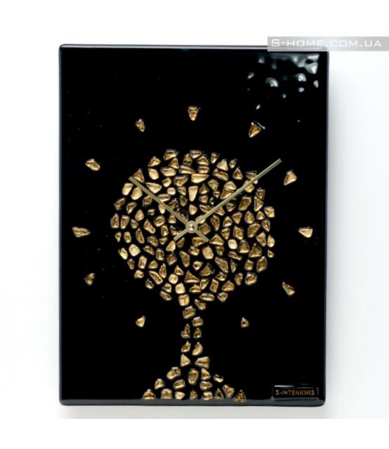 Настінний годинник із позолотою S-Interiors Oro Albero