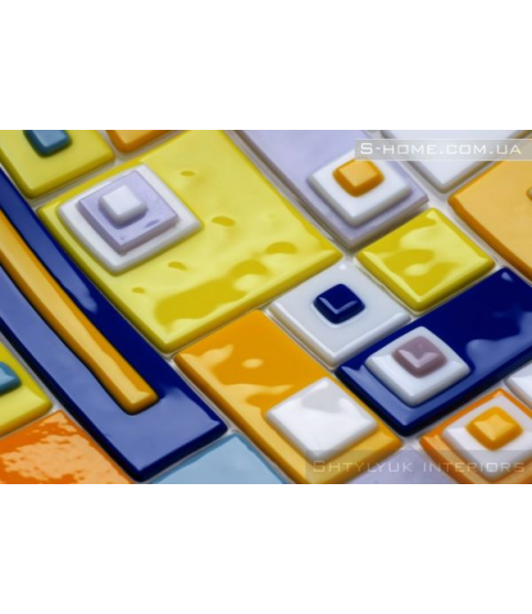 Стеклянная тарелка фьюзинг Colore Domino
