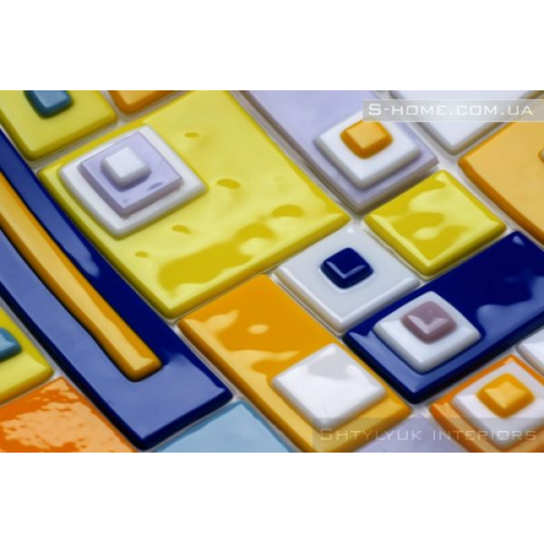 Скляна тарілка фьюзинг S-Interiors Colore Domino