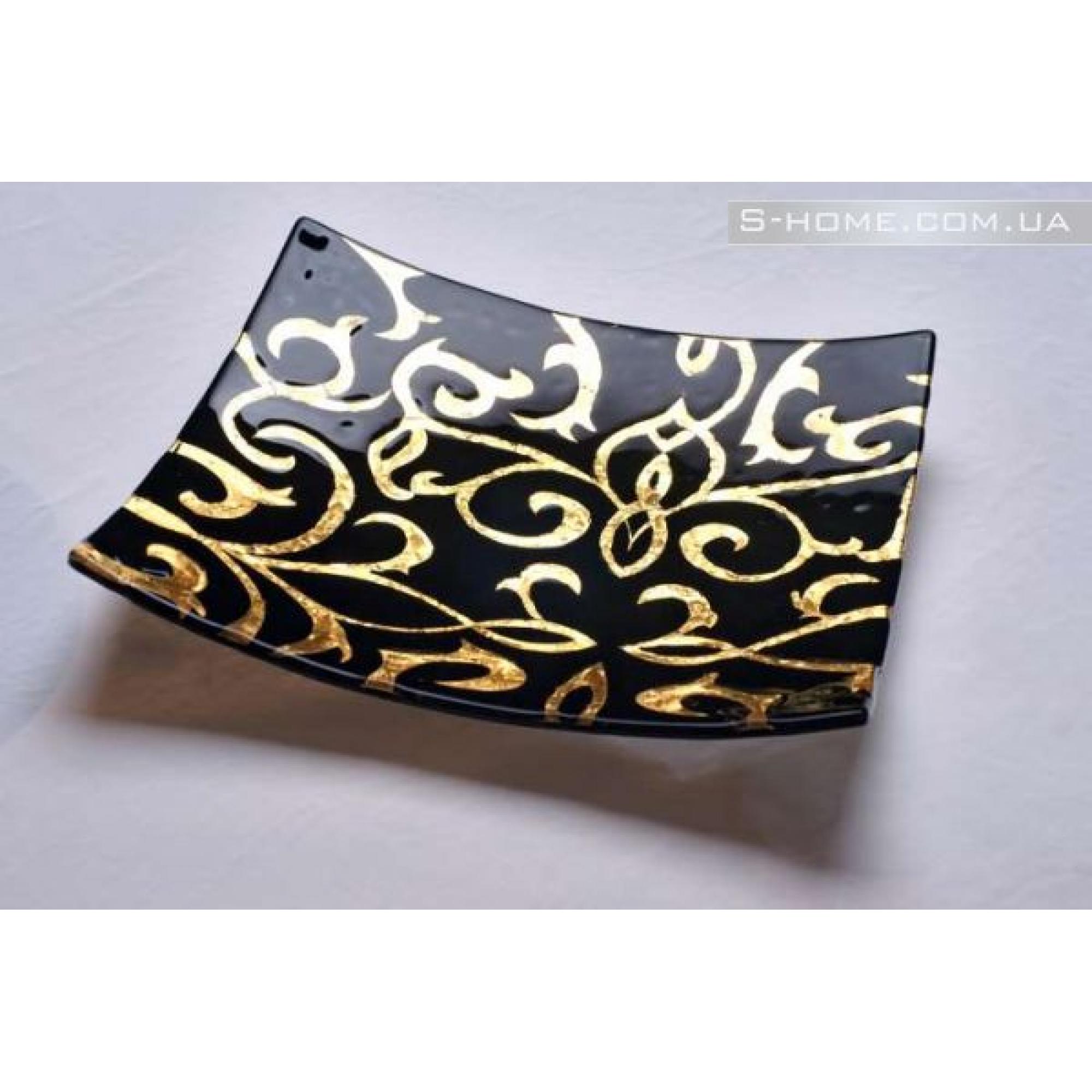 Декоративна тарілка із золотом S-Interiors Gold Ages