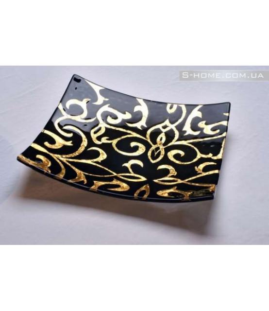 Декоративная тарелка с золотом Gold Ages
